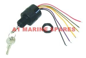 A1 Ignition Switch Push Key to Choke Mercury Mariner outboard 6 wire 87-17009A2