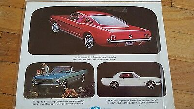 1965 Ford Mustang Cardboard Advertising Print Ad Ex Condition