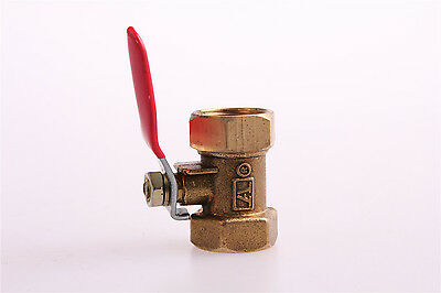 "3/8"" PT Female to Female Threaded Lever Handle Brass Ball Valve Coupling"