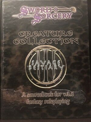Creature Collection 3 Savage Bestiary - Sword & Sorcery d20 RPG Sourcebook