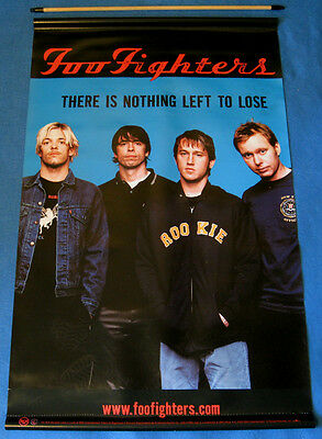 """FOO FIGHTERS """"Nothing Left To Lose"""" Plastic PROMO Poster 2000 Dave Grohl Orig NM"""