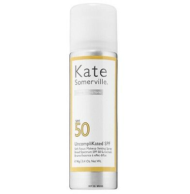 KATE SOMERVILLE UncompliKated SPF 50 Soft Focus Makeup Setting Spray FULL SIZE