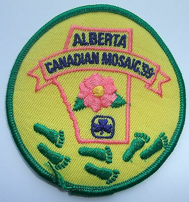 Girl Guides of Canada Badge Patch Alberta Canadian Mosaic 99