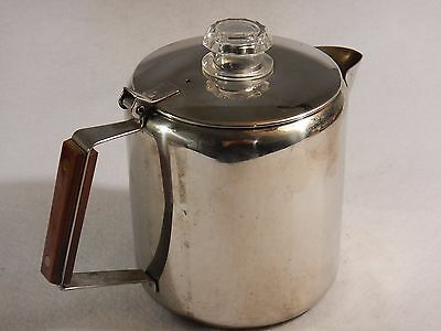 18/8 STAINLESS STEEL 9 cup Stove Top PERCOLATOR Coffee Pot