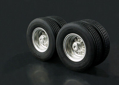 [Lesu]  1/14 Tractor semi-trailer W-2020 Small wheels Wheel (with tires) Tamiya