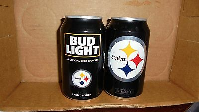Bud Light  Pittsburgh Steelers   2016  Beer Cans