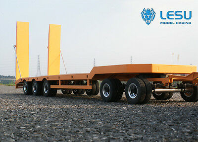 [Lesu]  1/14 Low Loader Semi-Trailer (Orange) (LS-A0001)