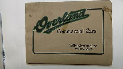 RARE 1918 WILLYS - OVERLAND DEALERS SALESMAN BOOK and PAPER VINTAGE TOLEDO OHIO