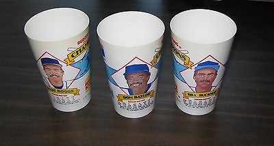 1987 Burger King Boston Red Sox cup complete set 3 cups Wade Boggs Jim Rice BK