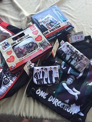 One Direction Lot NWT Wallet Stationary Set Backpacks