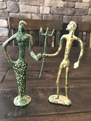 Gilt Bronze Statues Antiquities Greek Roman? Great Pieces