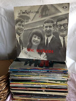 Bulk Vintage Vinyl Records (Dean Martin, The Seekers, Grease)