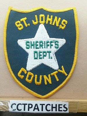 St Johns County, Florida Sheriff Police Shoulder Patch Fl