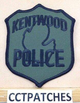 Kentwood, Michigan Police Subdued Shoulder Patch Mi