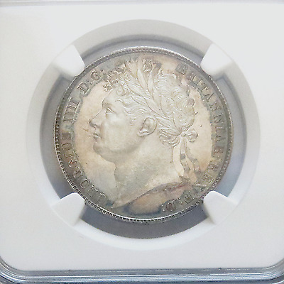 Great Britain George IV Silver 1820 1/2 Half Crown NGC MS62 Royal Mint KM# 676