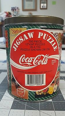 1993 Coca Cola Jigsaw Tin Can Unopened Puzzle Bag!