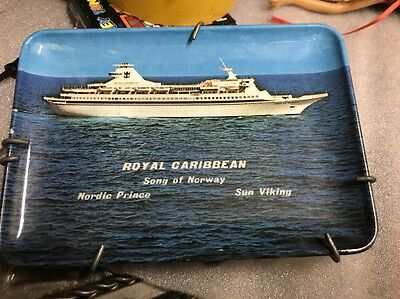 "Royal Caribbean song plate dated 67 Nordic Prince Sun Viking  6"" X4"" Collectible"