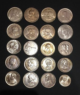 Thailand Coin 20 x 1 Baht King Rama IX Almost UNC.