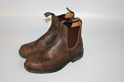 Blundstone Brown Leather Work Boots Ankle High Shoes Men's Size 6.5