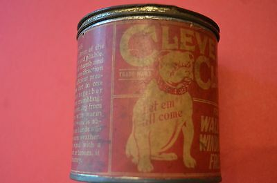 Antique advertising tin, Cleveland Cleaner, bulldog logo, Cleveland, Ohio U.S.A.