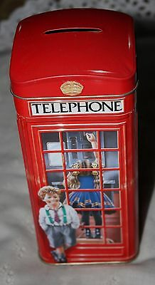 Telephone Box/Booth Toffee Tin Bank Churchills  Advertising Kiosk England
