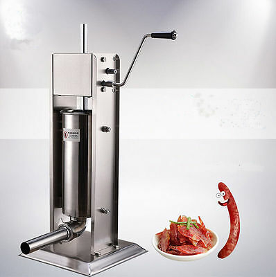 A Commercial Vertical Sausage Stuffer  Restaurant Stainless Steel 5L 15lb