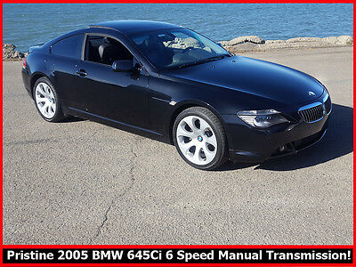2005 BMW 6-Series 645ci IMMACULATE 2005 BMW 645CI E63 CHASSIS COUPE! RARE 6 SPEED MANUAL TRANSMISSION