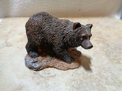 Young's Inc Resin Grzzly Bear Figurine Nicely Detailed