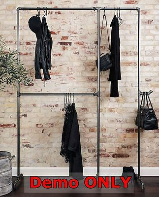Rustic Industrial Pipe Furniture Vintage SHOP Garment Clothes Rack Bracket WR050