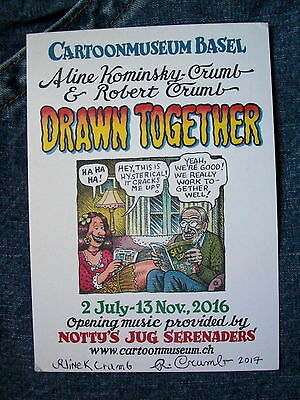 Crumb R. Robert-Signed -And Aline- A Fantastic Post-Card Sized Print !!!!!!!!!!!