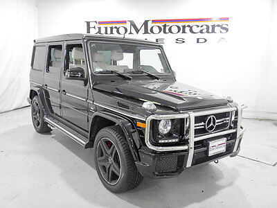 2015 Mercedes-Benz G-Class 4MATIC 4dr G 63 AMG 2015 mercedes benz g63 amg black porcelain white leather wagon 16 suv 17 g 63 mb