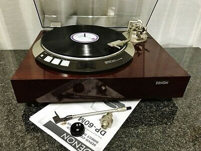 DENON DP-60M Record Player with 2 Arm Pipes 2 Weights F/S
