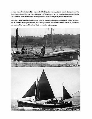 MODEL BOAT PLAN  LIVERPOOL TYPE LIFEBOAT for RADIO CONTROL PLAN & BUILD NOTES