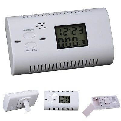 CO Carbon Monoxide Alarm  LCD Display Smart Human VoiceGas Detector Warning