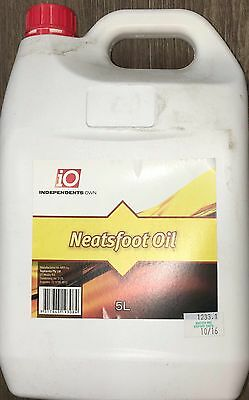 iO Neatsfoot Oil Leather Care  5lt Expired October 2016