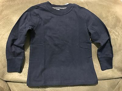 NWT Old Navy Baby Toddler Girls Boys Kids Tee T-Shirt Navy Long Sleeve 3T