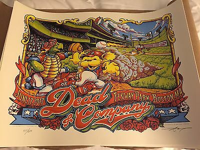 AJ Masthay - Dead And Company Co Fenway Park Boston Poster - 6/17 Night 1