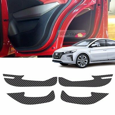 Carbon Door Decal Scratch Cover Kick Protector For HYUNDAI 2016 2017 2018 IONIQ