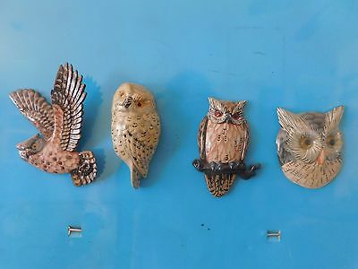 Very Nice Set of Owl Magnets