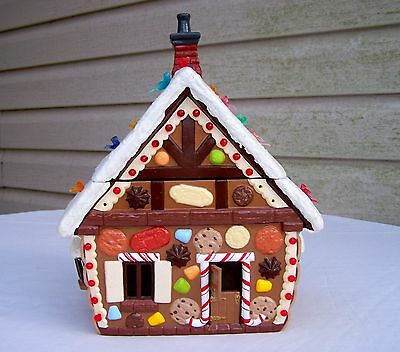 """Vintage Ceramic Christmas Lighted Gingerbread House 12"""""""