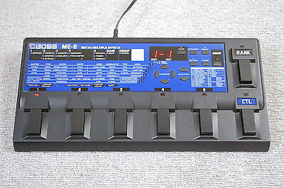 BOSS ME-8 Guitar Multiple Effects Pedal made in Japan ME8