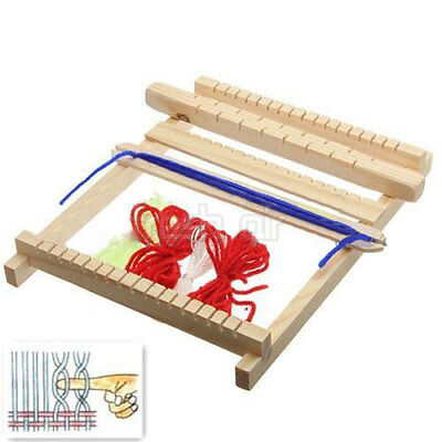 Traditional Wooden Weaving Toy Loom with Accessories Childrens Craft Gift