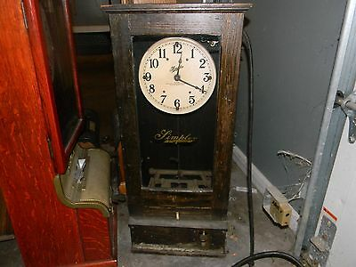 Simplex time recorder clock Electric
