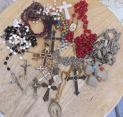 Lot of vintage Cross mixed metal/beaded