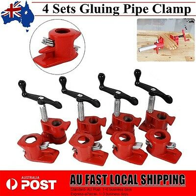 "Gluing Pipe Clamp 3/4"" 4 Sets - Woodworking Vice Hand Tool Brand New"