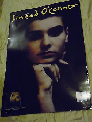 SINEAD O'CONNOR dynamic focused on eyes PROMO POSTER from 1990 24 X 36