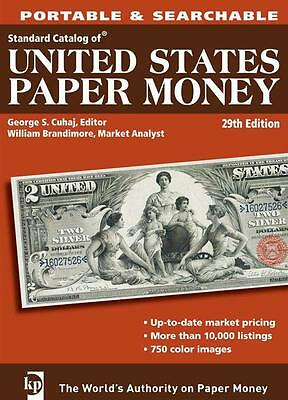 KRAUSE US PAPER MONEY CATALOGUE VALUES PORTABLE & SEARCHABLE CD 29th EDT 2010