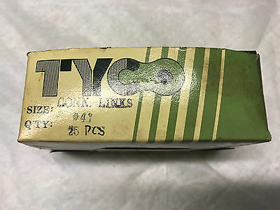 Tyco 11-402 #41 roller chain connecting links individual packages of 21