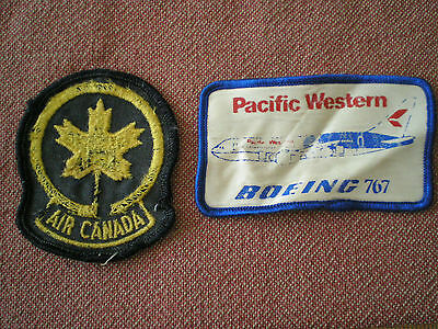 Vintage Air Canada & Pacific Western Boeing 767 Cloth Badges