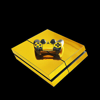 Gold Skin Sticker For PS4 Playstation 4 Console+ Controller Electroplating Decal